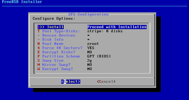 FreeBSD 11.0 installer disk partitioner